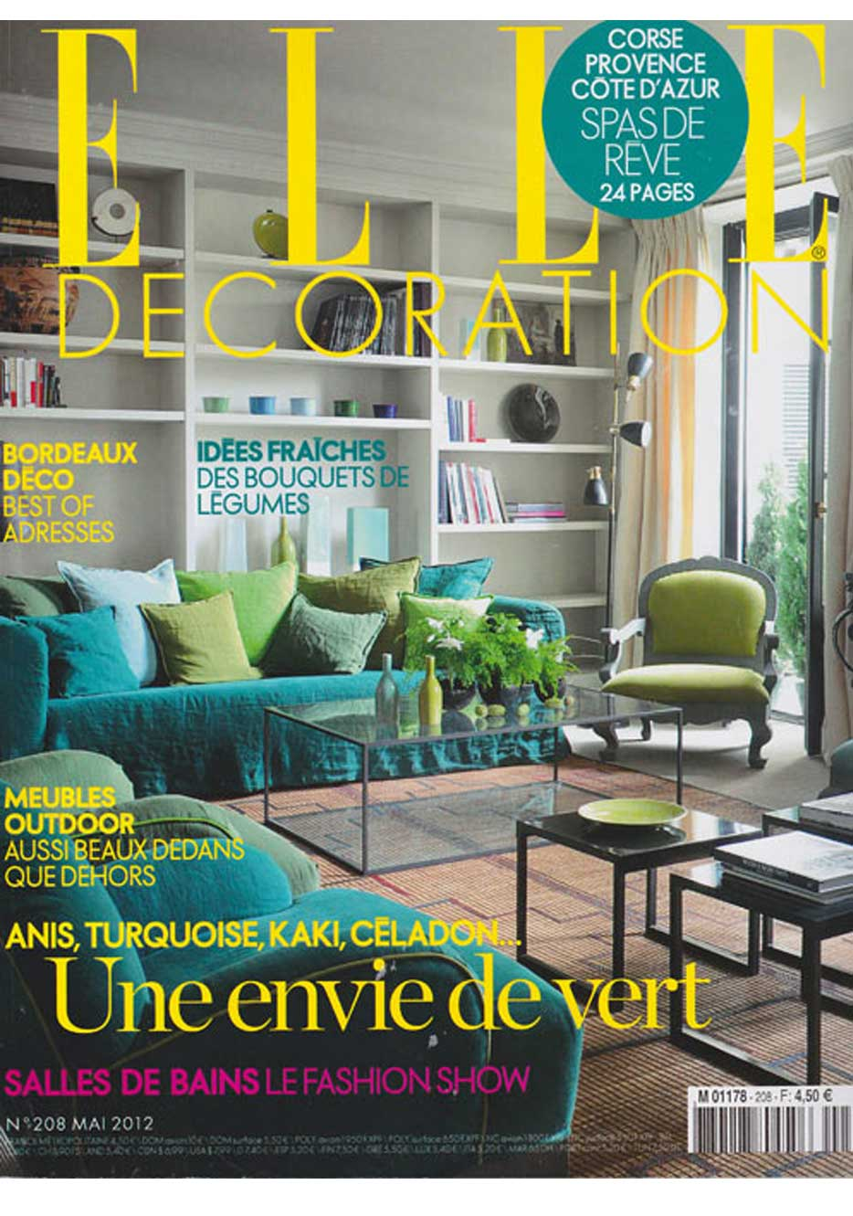 Article about Amaury Poudray in Elle Décoration