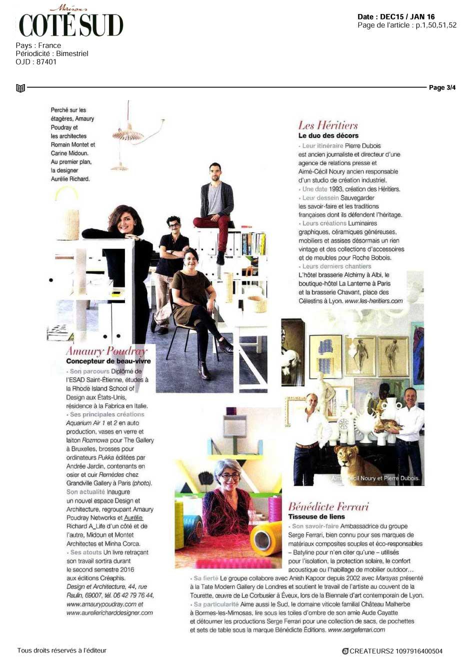 Amaury Poudray, designer de beau vivre