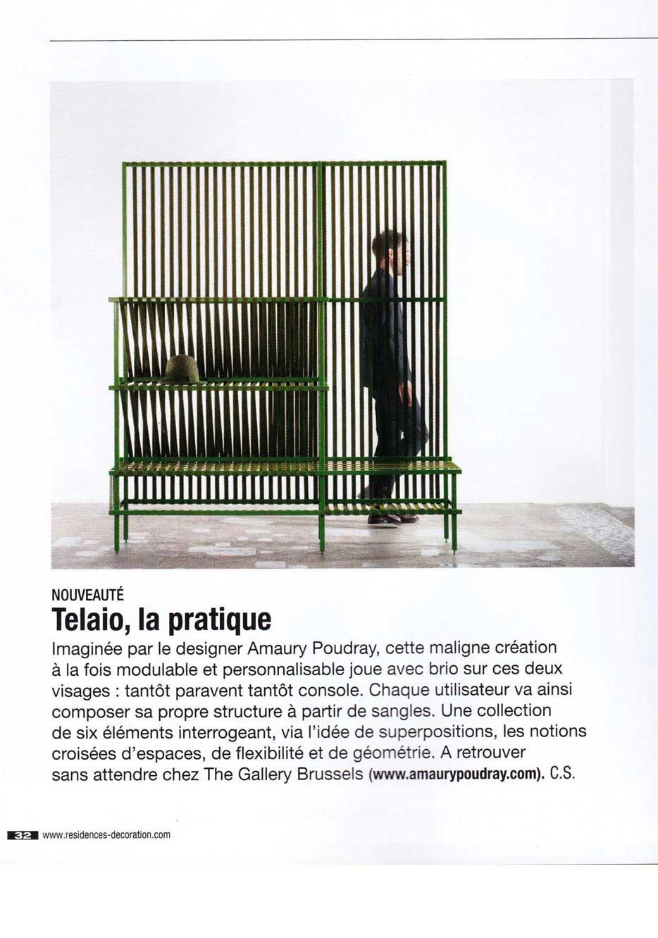 Article Telaio, structure en sangles